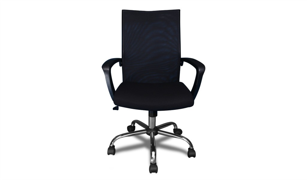 Black medium back office chair front view
