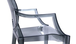 transparent acrylic chair with armrests