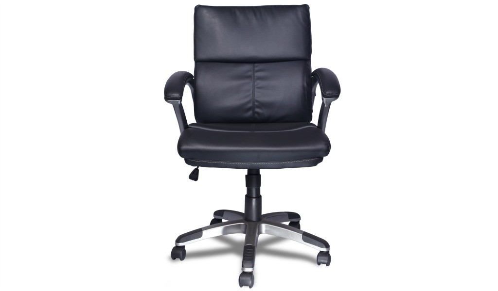 medium back office chair in PU leather
