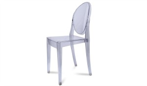 ghost chair in clear acrylic