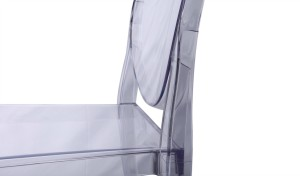 close up view of ghost chair