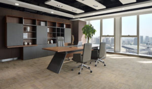 large director's cabin with premium office table
