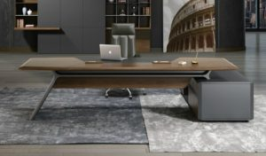 luxurious office cabin with premium office table