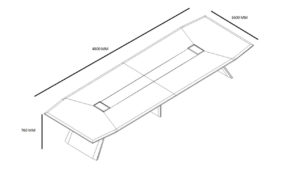 16 feet boardroom table shop drawing