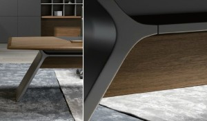 Meteor gray panel legs for italian office table