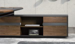 walnut veneer office table side cabinet