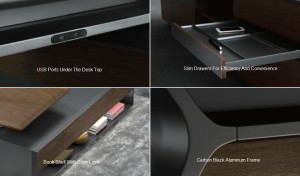 Office table features and design elements