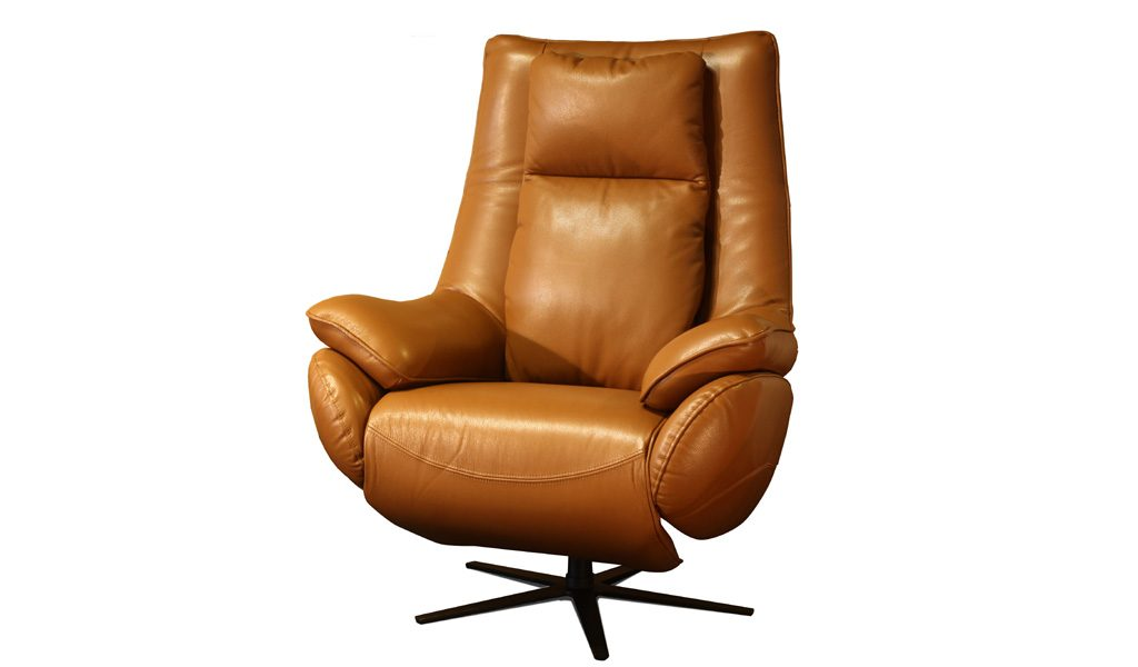 recliner with tan learger
