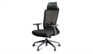 high back office chair with adjustable lumbar support