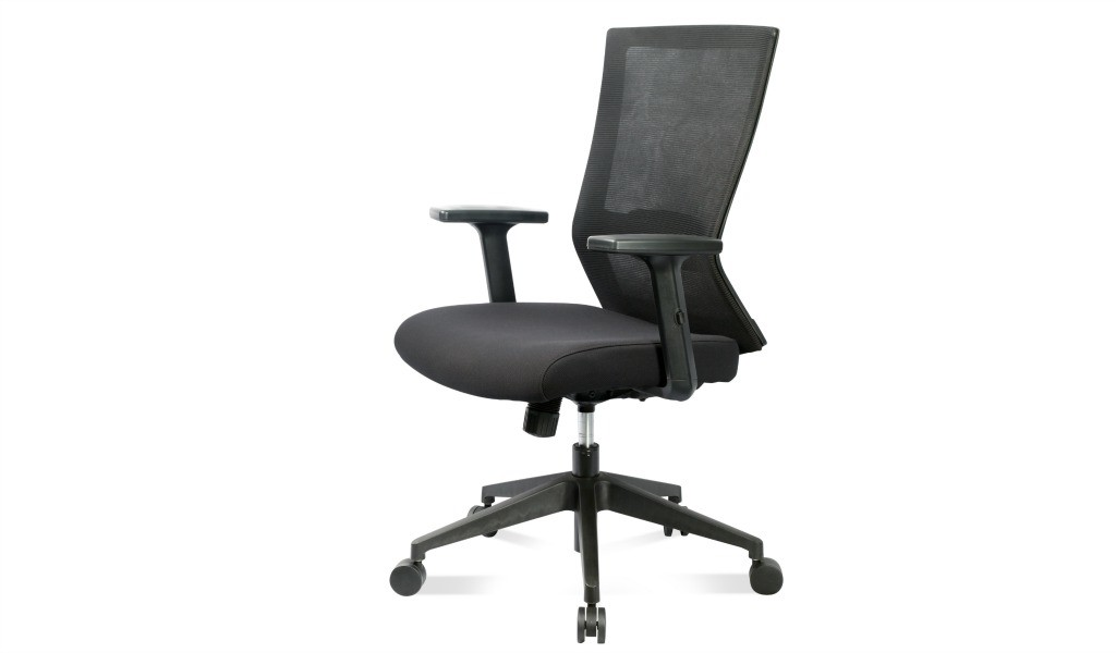 medium back office chair with adjustable lumbar support