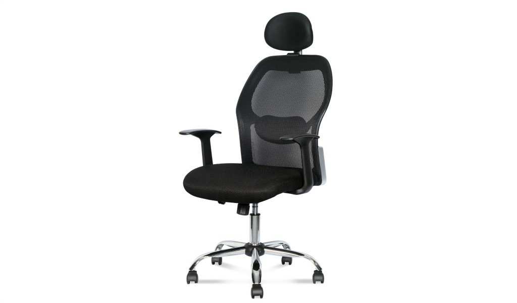 office chair with headrest and aluminum alloy base