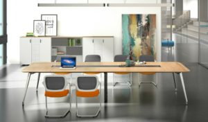 conference room with 10 feet meeting table and chairs