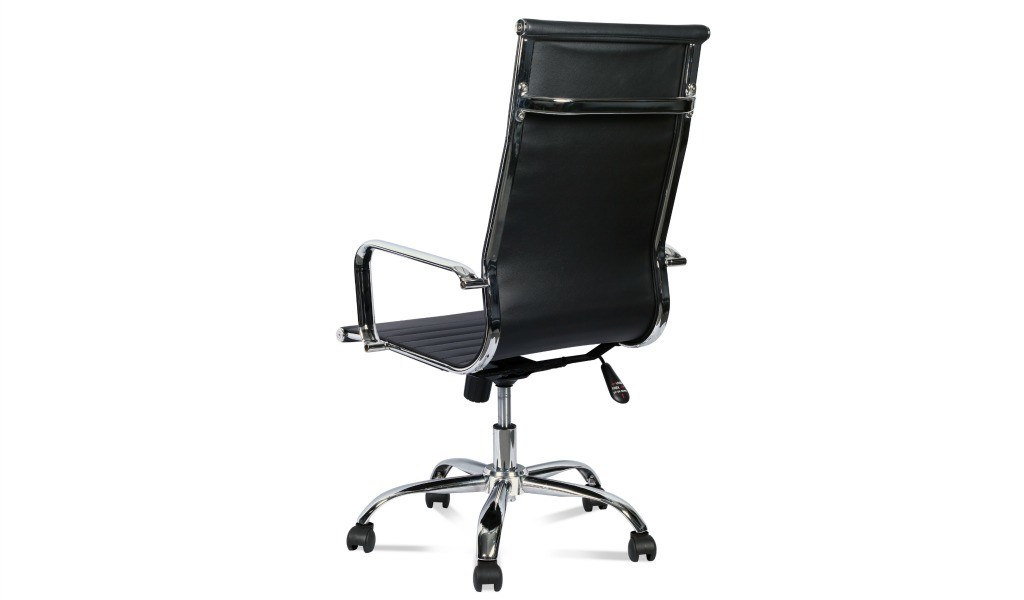 eams high back office chair in black leather