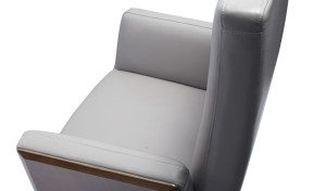 office chair in gray leather close up