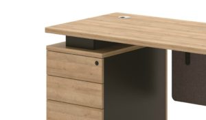 office desk with drawers and lock