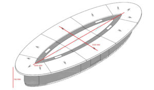 oval conference table size