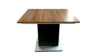 square meeting table in walnut finish