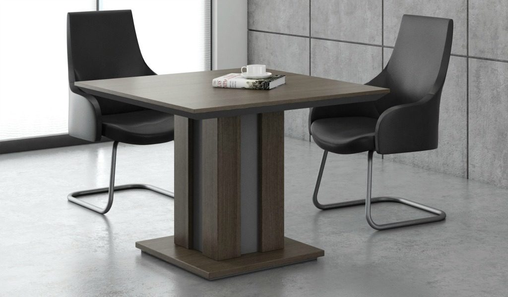 Square meeting table with chairs
