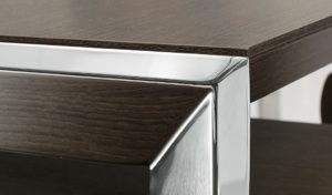 office table with chrome legs