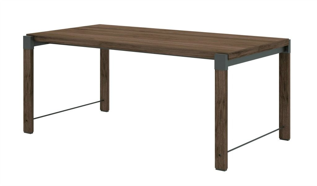 rectangular meeting table in walnut laminate