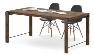 rectangular meeting table with black DSW chairs
