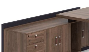 office table and side cabinet with storage