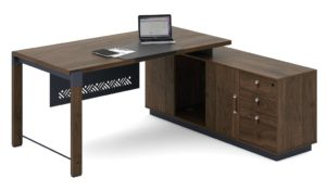 office table with side cabinet inside view
