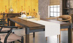 natural wood finish rectangular meeting table