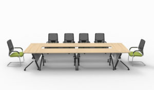 Foldable and movable meeting table