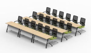 classroom tables with chairs