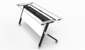training table frame and legs with modesty panel