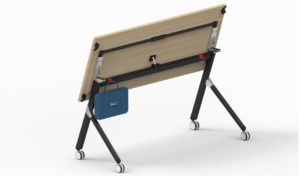 training table in folded position