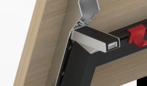 training table folding mechanism lock and frame