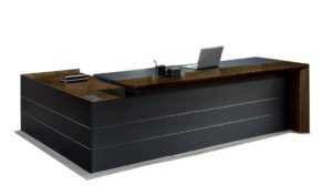 8 feet office table with leather pad