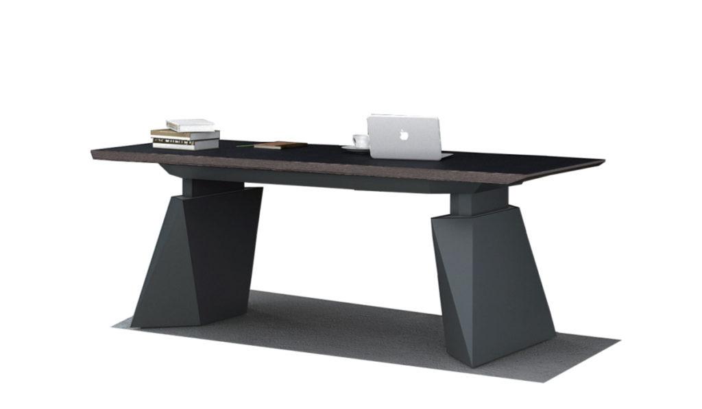 futuristic office desk with motorized lift