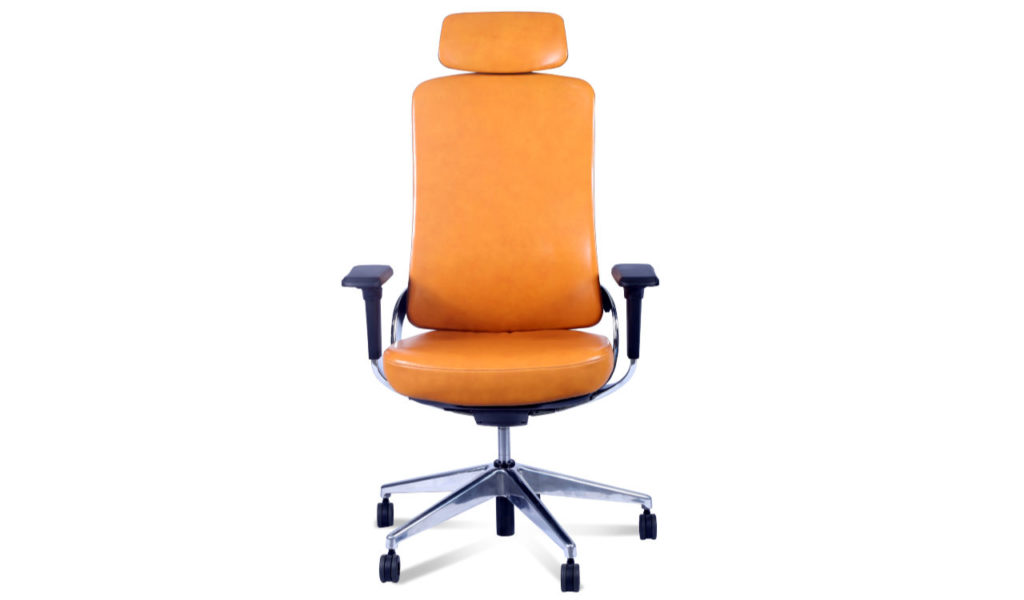 tan leather contemporary office chair
