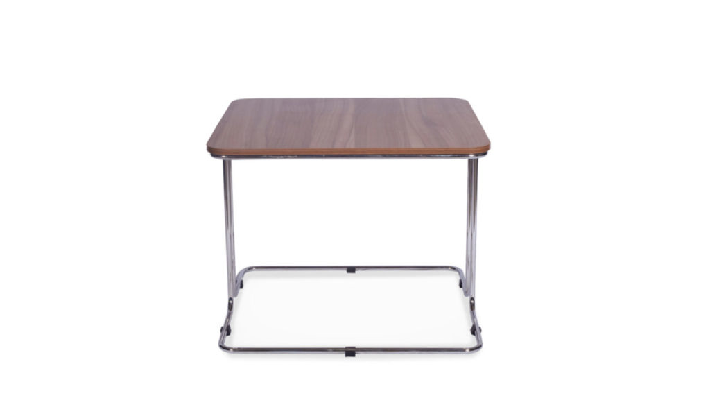 modern corner table with steel legs