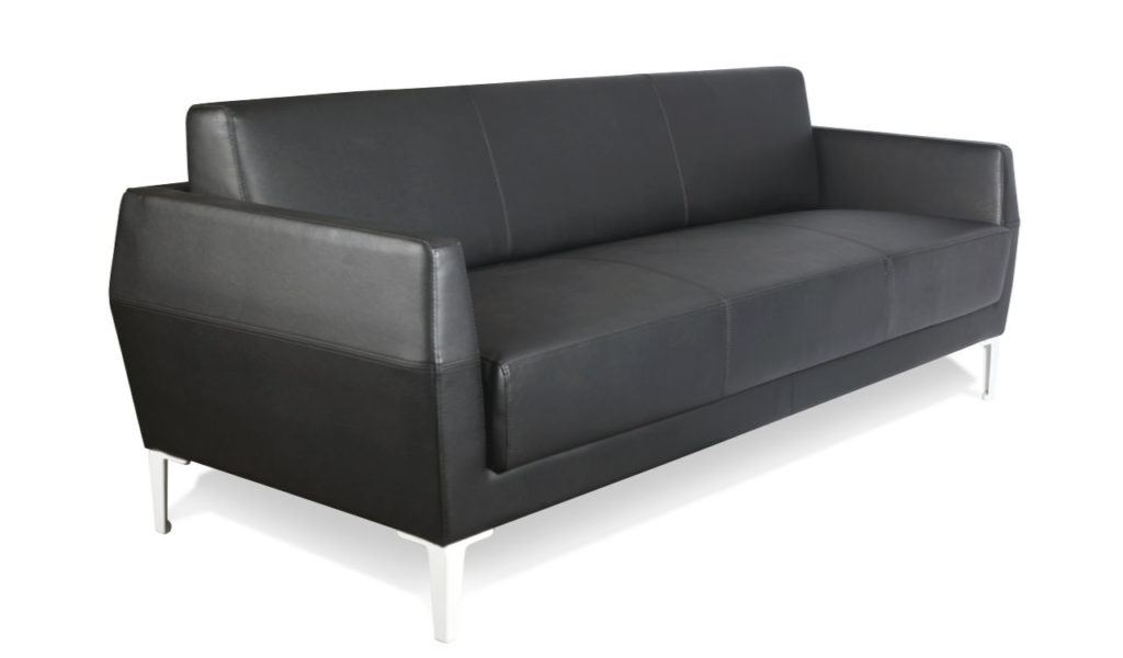 office sofa in black leather