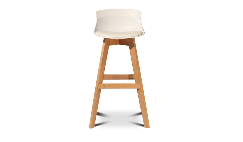 bar stool with wooden legs