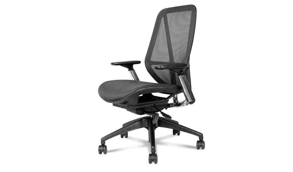 ergonomic office chair with synchro tilt mechanism