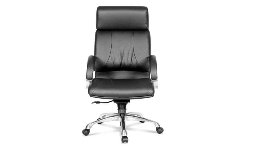 high back office chair in PU leather