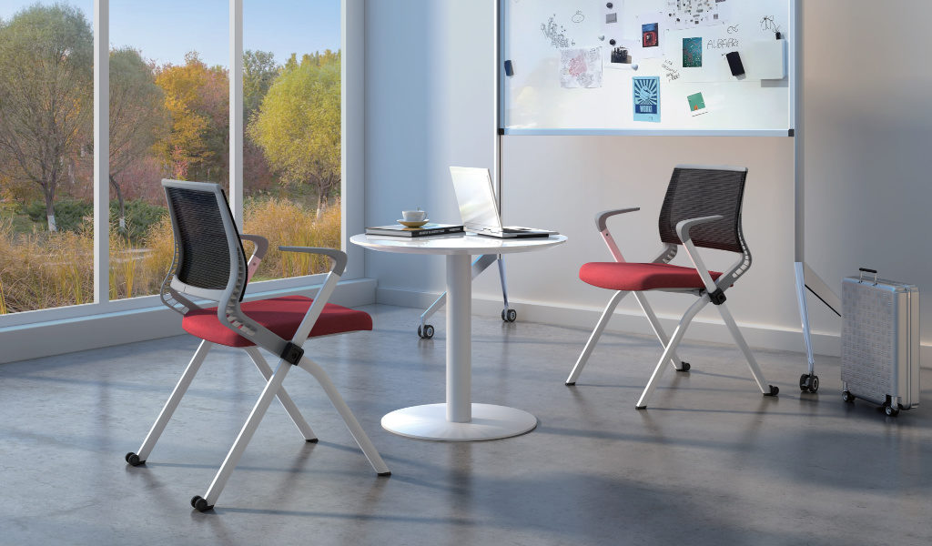 meeting room with foldable chairs