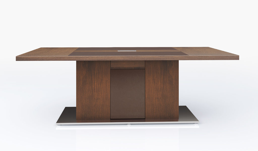 8 feet meeting table with wirebox
